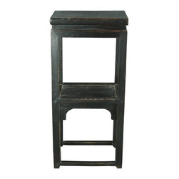 EuroLux Home - Small Consigned Antique Chinese Double Tier Tea Table - Product Details