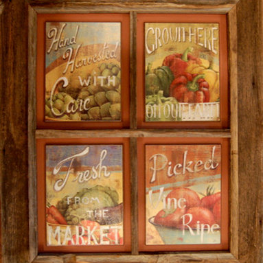 MyBarnwoodFrames - Four Opening Windowpane Collage Frame, 4x6 openings - Windowpane  Collage  Frame  with  Four  Openings          Each  of  our  Windowpane  Collage  Frames  is  crafted  from  beautiful  primitive  wood.   And  because  they're  handmade,  you'll  be  hard-pressed  to  find  anything  like  them.   This  beautiful  four-opening  frame  can  hold  four  of  your  favorite  family  portraits,  four  antique  pieces  of  sheet  music,  or  a  custom-designed  art  piece  of  your  choice.   Fill  it  with  four  different  varieties  of  pressed  herbs,  or  dust  covers  from  some  of  your  antique  Zane  Grey  novels.   There's  no  limit  to  the  fun  you  can  have  with  a  windowpane  collage  frame.          Product  Specifications:                  One  barnwood  frame,  outer  dimensions  approximately  15x18  inches              Can  be  hung  horizontally  or  vertically              Four  4x6  picture  openings              Glass  is  included              Your  purchase  includes  cardboard  backing  and  hardware  for  hanging