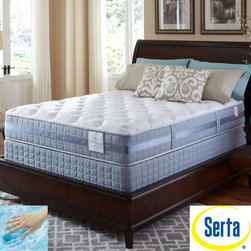 Serta - Serta Perfect Sleeper Resolution Plush Full-size Mattress and Foundation Set - Wake up refreshed with this Perfect Sleeper Plush mattress set from Serta. A Consumer Digest Best Buy for over a decade, you can shop with confidence knowing that this mattress will offer the comfort and support you need for a great night's sleep.