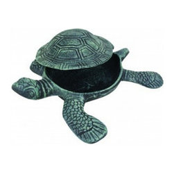 """Handcrafted Model Ships - Seaworn Cast Iron Turtle Hide A Key 10"""" - Sea Turtle Decor - Let this lovely turtle keep you from being locked out of your home. She's a darling beach decoration with a special secret. This turtle hide a key stashes a spare key safely out of sight from prying eyes, but is a charming and smart way to hold an emergency house key at reach when you need it. This turtle hide a key is a thoughtful gift idea for any beach enthusiast."""