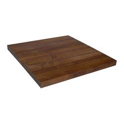 "John Boos - 1.75"" Thick Walnut Edge Grain Countertop - 48""W - 48-inch wide and available in various standard lengths. Or specify custom dimensions. Choose grain style and edge style. Order online now!"