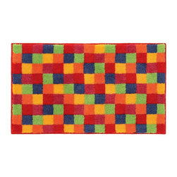 "Grund - Grund Premium Bathroom Comfort Mats-Joker Series, Orange, Large - Vibrant and energetic! The Joker Series will kick-start your morning routine in your bathroom by waking you up with these bright colors and fun pattern!  Machine tufted.  Comes in two colors and is available in three sizes:  21"" X 24"" small, 24"" X 36"" medium, 24"" X 60"" large."