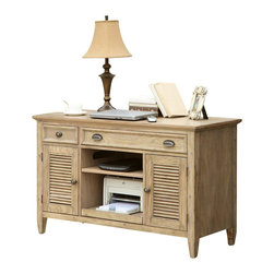 Riverside Furniture - Riverside Furniture Coventry Credenza Desk in Weathered Driftwood - Riverside Furniture - Computer Desks - 32423 - Riverside's products are designed and constructed for use in the home and are generally not intended for rental, commercial, institutional or other applications not considered to be household usage.
