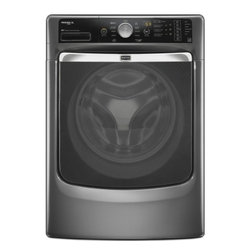 """Maytag - MHW7000AG 27"""" Maxima XL 4.3 cu. ft. Capacity Front Load Steam Washer  PowerWash - The Maytag MHW7000A 43 Cu Ft front load steam washer shows stains you mean business Whether it39s in hot or cold water you can choose how your clothes get the best cleaning in the industry The PowerWash cycle combines extra cleaning action and heated..."""