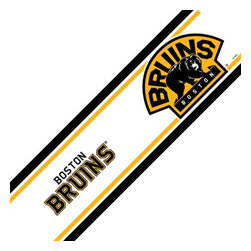 Trademarx Wall Decor - NHL Boston Bruins Self-Stick Hockey Wall Border Roll - Features: