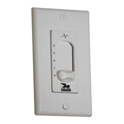 Wall Mount Fan/Light Control - Four Speed Slide Fan Control. Weight: 7. 75 lbsSafety Rating: UL, CULVoltage: 120