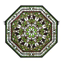 Meyda Tiffany - Meyda Tiffany Front Hall Floral Medallion Stained Glass Tiffany Window X-322701 - Meyda Tiffany Front Hall Floral Medallion Stained Glass Tiffany Window X-322701