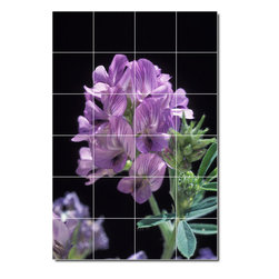 Picture-Tiles, LLC - Flowers Photo Wall Tile Mural 30 - * MURAL SIZE: 48x32 inch tile mural using (24) 8x8 ceramic tiles-satin finish.