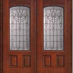 """Prehung Double Door 80 Fiberglass Palacio 2 Panel Arch Lite Glass - SKU#MCT06195_DFAP2BrandGlassCraftDoor TypeExteriorManufacturer CollectionArch Lite Entry DoorsDoor ModelPalacioDoor MaterialFiberglassWoodgrainVeneerPrice3410Door Size Options2(32"""")[5'-4""""]  $02(36"""")[6'-0""""]  $0Core TypeDoor StyleDoor Lite StyleArch LiteDoor Panel Style2 PanelHome Style MatchingDoor ConstructionPrehanging OptionsPrehungPrehung ConfigurationDouble DoorDoor Thickness (Inches)1.75Glass Thickness (Inches)Glass TypeDouble GlazedGlass CamingBlackGlass FeaturesTempered glassGlass StyleGlass TextureGlass ObscurityDoor FeaturesDoor ApprovalsEnergy Star , TCEQ , Wind-load Rated , AMD , NFRC-IG , IRC , NFRC-Safety GlassDoor FinishesDoor AccessoriesWeight (lbs)603Crating Size25"""" (w)x 108"""" (l)x 52"""" (h)Lead TimeSlab Doors: 7 Business DaysPrehung:14 Business DaysPrefinished, PreHung:21 Business DaysWarrantyFive (5) years limited warranty for the Fiberglass FinishThree (3) years limited warranty for MasterGrain Door Panel"""