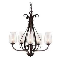 Trans Globe Lighting - Trans Globe Lighting 70385 ROB Chandelier In Rubbed Oil Bronze - Part Number: 70385 ROB