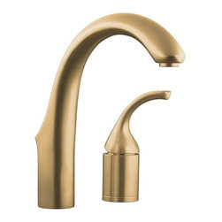 KOHLER - KOHLER K-10443-BV Forte /Bar/Prep/Entertainment Kitchen Sink Faucet, Less Sidesp - KOHLER K-10443-BV Forte /Bar/Prep/Entertainment Kitchen Sink Faucet, Less Sidespray in Brushed BronzeThe Forte entertainment sink faucet combines transitional, easy-to-clean styling with highly functional performance.KOHLER K-10443-BV Forte /Bar/Prep/Entertainment Kitchen Sink Faucet, Less Sidespray in Brushed Bronze, Features:• High-arch design with 360 degree rotation offers superior clearance for a variety of sink activities