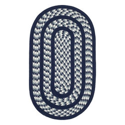 Safavieh - Safavieh Braided BRD401D 5' x 8' Oval Ivory, Navy Rug - Introducing Safavieh's Braided rug collection. Hand made in India and China, the vibrant colors make selecting the rug easy to match the decor in any room and are reversible to give excellent value.