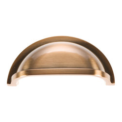 Hickory Hardware - Williamsburg Satin Rose Gold Cup Cabinet Pull - Bridges contemporary and traditional design.  Offering a deep rooted sense of history in some, with an updated feel and cleaner lines.