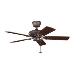 """Kichler - Kichler 337013TZ Sutter Place 42"""" Indoor Ceiling Fan w/5 Blades - w/4.5"""" Downrod - Included Components:"""