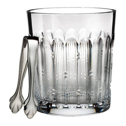 Waterford - Waterford Mixology Clear Talon Ice Bucket with Tongs - This Waterford Mixology bucket features brilliant clear crystal featuring a unique crystal pattern to add an aura of elegance to the serving area. Tongs are included to conveniently grab ice with.