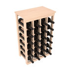 24 Bottle Kitchen Wine Rack in Pine with Satin Finish - Petite but strong, this small wine rack is the best choice for converting tiny areas into big wine storage. The solid wood top excels as a table for wine accessories, small plants, or whatever benefits the location. Store 2 cases of wine in a space smaller than most televisions!