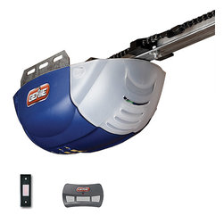 Genie - Genie 1022 DC Chain Drive Garage Door Opener - Genies renowned safety features are integrated into this 24-volt DC,chain-drive automatic garage door-opener. Safe-t-beams stop closure when kids or pets run through. This set includes one three-button remote,wall button,and installation instructions.