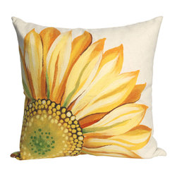 "Trans-Ocean - Sunflower Yellow Pillow - 20"" SQ - The highly detailed painterly effect is achieved by Liora Mannes patented Lamontage process which combines hand crafted art with cutting edge technology.These pillows are made with 100% polyester microfiber for an extra soft hand, and a 100% Polyester Insert.Liora Manne's pillows are suitable for Indoors or Outdoors, are antimicrobial, have a removable cover with a zipper closure for easy-care, and are handwashable."