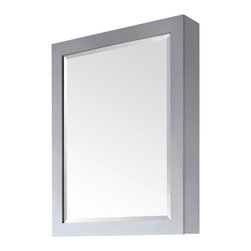 "Avanity - Modero 36"" x 28"" Mirror Cabinet - Features: -Mirror cabinet. -Modero collection. -White finish. -Poplar solid wood construction. -Beveled mirror. -2 Glass shelves. -Hangs vertically. -Overall dimensions: 36"" H x 28"" W x 6.25"" D."