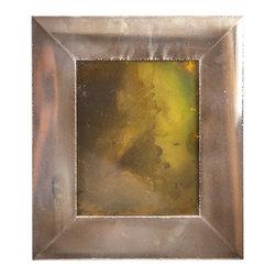 "Art Dallas, Incorporated - Art Dallas Antique Mirror - Green Haze - An Art Dallas handcrafted ""Green Haze"" Antique Mirror framed with our Flash® molding."