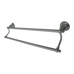 Kingston Brass - BA797318SN English Vintage 18in. Dual Towel Bar, Satin Nickel - English Collection, Fabricated from solid brass material for durability and reliability, Premium color finish resist tarnishing and corrosion, Easy to install, Matching collection available, One Year Limited Warranty to the original consumer to be free from defects in material and finish.