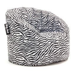 Comfort Research - Big Joe Lumin Zebra - The Big Joe Lumin Chair envelopes you in ultimate comfort. The back and arm rests provide soft but firm support. This chair is great for any room in the house. WHILE SUPPLIES LAST.
