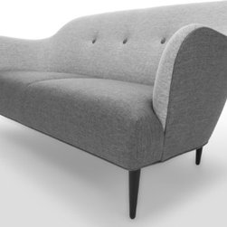 Bryght - Retro Sofa - A stunning silhouette with dual shades of gray, the Retro sofa brings a refreshingly modern perspective to an interior.
