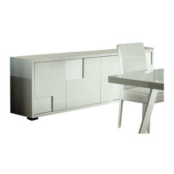 Rossetto - Rossetto Nightfly 79 Inch Wide Buffet in White - Rossetto - Buffet Tables and Sideboards - R413304733068