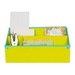 Frisco - Frisco Desk Organizer - Green - Say goodbye to having a case of the Mondays with our green Desk Organizer from the Frisco collection of desk accessories. Built to store notepads, mail, calculators, sticky notes and to tidy up the top of your desk, Frisco adds a happy vibe to the dullest work space.