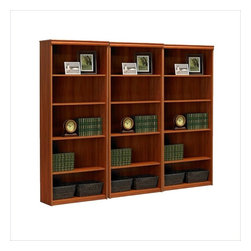 Ameriwood - Ameriwood 5-Shelf Standard Wall Bookcase in Expert Plum - Ameriwood - Bookcases - 9416083STPKG - Ameriwood 5-Shelf Standard Wood Bookcase in Expert Plum (included quantity: 3)