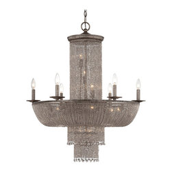 North Iron Chain and Crystal 16 Lights Chandelier 11563 - North Iron Chain and Crystal 16 Lights Chandelier 11563