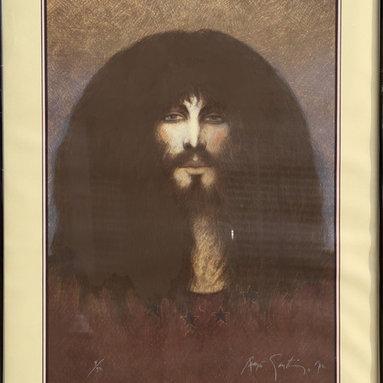 Ramon Santiago, Untitled - Self Portrait (61), Serigraph - Artist:  Ramon Santiago, American (1943 - 2001)