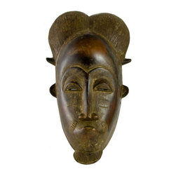 Lavish Shoestring - Consigned Mblo Portrait Mask by Baule People, African Ivory Coast, Early 20th C. - This is a vintage one-of-a-kind item.
