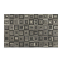 Uttermost - Uttermost Matrice 8 x 10 Rug - Gray 73054-8 - Low Cut Wool In Shades Of Light And Dark Grays.