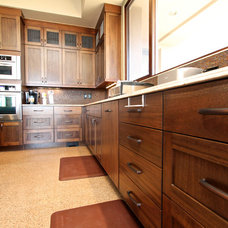 Eclectic Kitchen Cabinetry by Venuti Woodworking