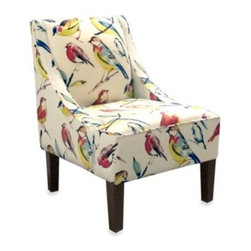 Skyline Furniture - Skyline Furniture Swoop Arm Chair in Bird Watcher Summer - The Swoop Arm Chair is the perfect blend of comfort and fashion and looks great in any room.