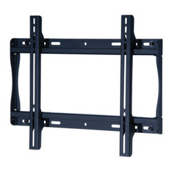"""Peerless - Flat Wall Mount 23 to 46"""" - The SmartMount Universalersal Flat wall mount supports virtually any 23"""" to 46"""" LCD flat panel screen. The ultra-slim wall plate keeps the screen close to the wall for a very discreet installation that is perfect for boardrooms digital signage or home theaters. The mount includes simple to align Universalersal brackets and a unique wall plate that can be mounted to one or two wood studs up to 16"""" apart concrete cinder block or two metal studs (accessory required). Includes a Sorted-For You baffle pack with all screen hardware and security fasteners."""