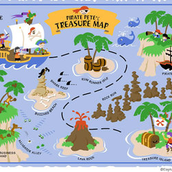 Elephants on the Wall - Small Pirate Pete's Treasure Map Paint by Number Wall Mural - Small Pirate Pete's Treasure Map Paint by Number Wall Mural