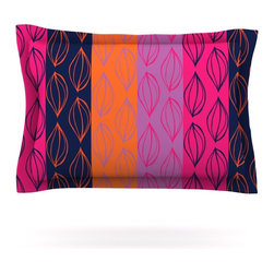 """Kess InHouse - Anneline Sophia """"Tropical Seeds"""" Pink Orange Pillow Sham (Cotton, 40"""" x 20"""") - Pairing your already chic duvet cover with playful pillow shams is the perfect way to tie your bedroom together. There are endless possibilities to feed your artistic palette with these imaginative pillow shams. It will looks so elegant you won't want ruin the masterpiece you have created when you go to bed. Not only are these pillow shams nice to look at they are also made from a high quality cotton blend. They are so soft that they will elevate your sleep up to level that is beyond Cloud 9. We always print our goods with the highest quality printing process in order to maintain the integrity of the art that you are adeptly displaying. This means that you won't have to worry about your art fading or your sham loosing it's freshness."""