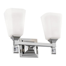 Murray Feiss - Murray Feiss Sophie 2 Bulb Polished Nickel Vanity Strip X-NP-20074SV - Murray Feiss Sophie 2 Bulb Polished Nickel Vanity Strip X-NP-20074SV