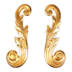 uDecor - GF-2122-Set - For anyone looking for an elegant way to adorn your home or business, our gold foil products are the perfect way to achieve your desired look. Made out of polyurethane and then coated with 18k gold foil, these products are sure to leave your family and clients impressed.  Made from dense polyurethane