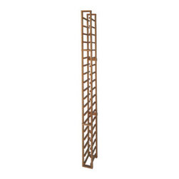 """Vinotemp - 1-Column Wood Wine Rack - The Vinotemp 1-Column Wood Wine Rack provides an attractive and functional wine storage area for up to 18 bottles. Designed with 3.75"""" cubicles to fit most 750-Ml bottles, this rack will keep your collection safe and organized by individual bottles. Vinotemp uses untreated domestic wood and quality metal fasteners for this rack. Hand crafted in Vinotemp's Southern California factory, this wine rack can be made to order just for you."""