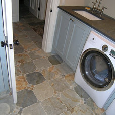 Traditional Laundry Room by Mediterranean Tile and Marble