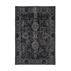 Kaleen - Contemporary Restoration 2'x3' Rectangle Black Area Rug - The Restoration area rug Collection offers an affordable assortment of Contemporary stylings. Restoration features a blend of natural Black color. Hand Knotted of 100% Wool the Restoration Collection is an intriguing compliment to any decor.