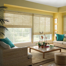 Levolor Natural Shades - This window shade's unique ability to elegantly accent any room of the home, Levolor Natural Shades combine the latest fabrics, textures, and patterns with exclusive, easy to operate light control options. By incorporating these elements into a look that is equally exquisite and functional, Levolor Natural Shades reflect an entire lifestyle in each room.