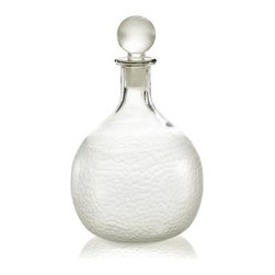 Bauble Decanter - Lively facets texture our friendly, rounded decanter in luminous pattern from the rounded base up to its bubble-shaped topper. Crafted of blown glass that is cut, edged, etched and polished by hand.