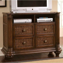 Progressive Furniture Palm Court II 4 Drawer Media Chest - Cocoa Brown
