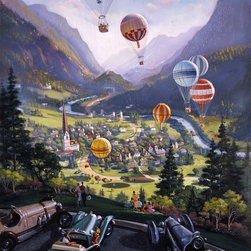 Murals Your Way - Up, Up and Away Wall Art - Painted by Michael  Young, Up, Up and Away wall mural from Murals Your Way will add a distinctive touch to any room
