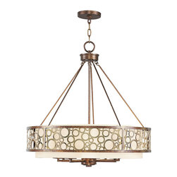 Livex - Livex Avalon Chandelier 8678-64 - Finish: Palacial Bronze with Gilded Accents