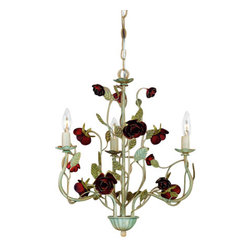 Laura Ashley - Laura Ashley MROS0375 English Rose 3 Light Mini Chandelier - English Rose 3 Light Mini ChandelierLaura Ashley Home Lighting brings the distinctive style of Laura Ashley into your home with an impressive selection of lighting. Each piece embodies the English influence of Laura Ashley while bringing classical elegance to modern design.